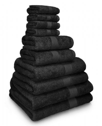 100% EGYPTIAN COMBED COTTON SUPER SOFT 650gms HOTEL QUALITY TOWELS BLACK COLOUR